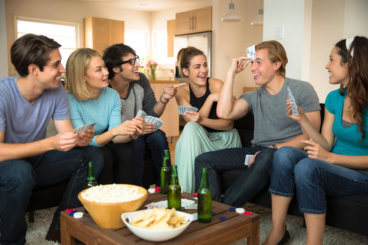 Group enjoying gluten free snacks at a party