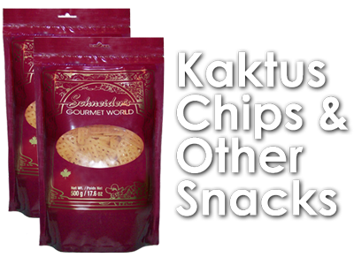 text: Kaktus chips and othert snacks