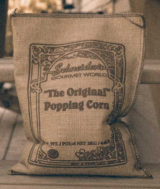 Schneiders Gourmet World popcorn sack (historic)